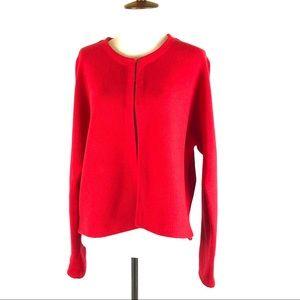 Chicos red cotton cardigan shrug